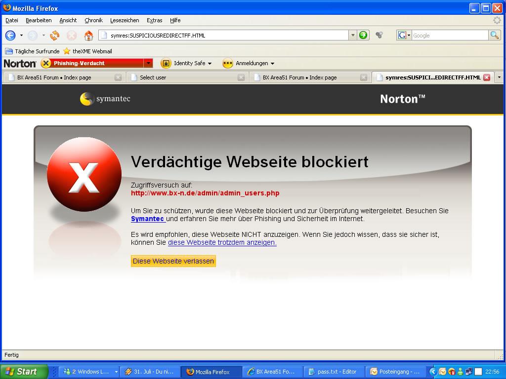 NIS 2008 -  phpBB2 ACP verdächtig
