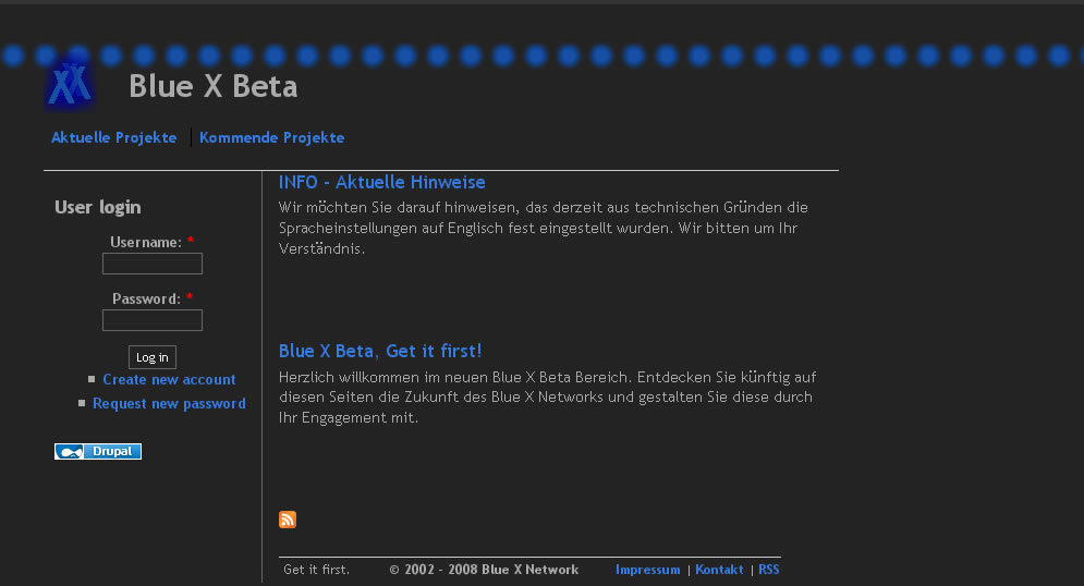 Blue X Beta