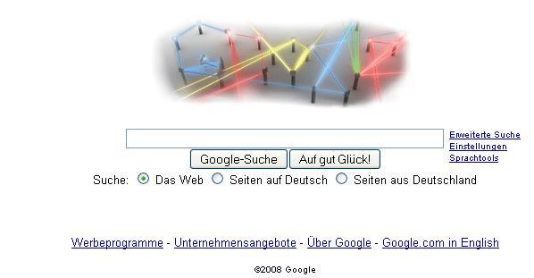 Google Doodle am 16.05.2008