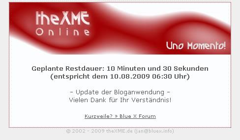 theXME.de Wartungsarbeiten