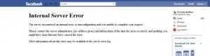 App Error @ Facebook
