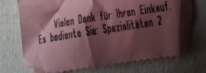 """""""Es bediente Sie: Spezialitäten 2"""""""