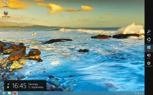 Der klassische Desktop unter Windows 8 - mit Charms Bar