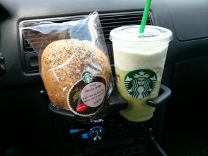 Starbucks Switzerland - mit Frappuchino und Spicy Chicken