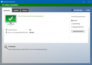 Hallo, Windows Defender!