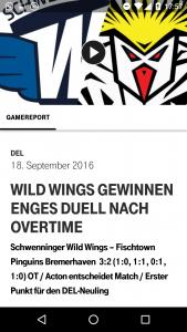 Telekom Eishockey App: Spielvideos